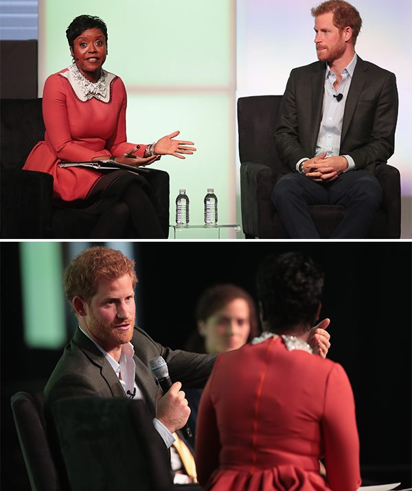 Mellody Hobson hosted a Q&A with Prince Harry at the inaugural Obama Foundation Summit on October 31, 2017 in Chicago.