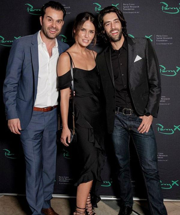 The pair attended the Perry Cross Spinal Research Foundation fundraiser at Matteo. *Pic Credit: Facebook*