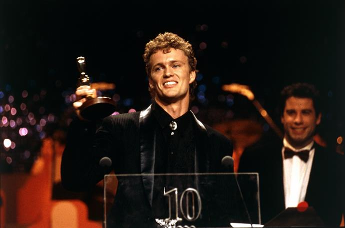With his 1990 TV WEEK Gold Logie award for *Neighbours*