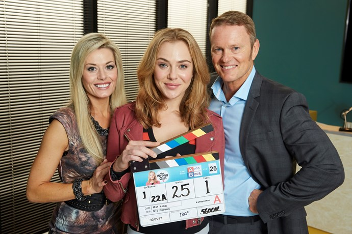 With *The Wrong Girl* co-stars Medleine West and Jess Marais