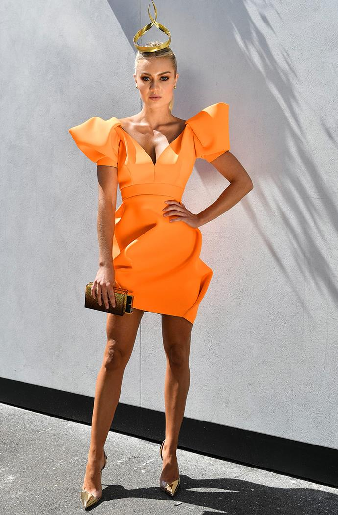 Elyse Knowles is burning bright in orange