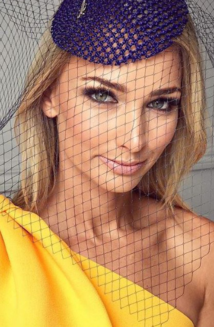 Anna Heinrich is glowing in blue and gold.