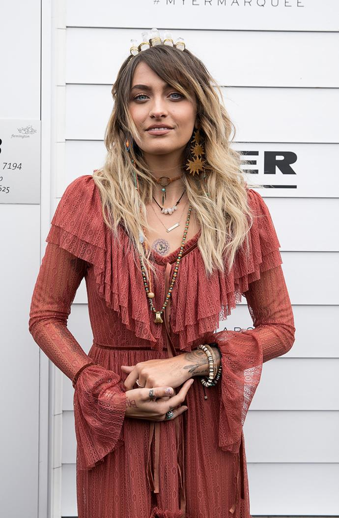 Paris Jackson, the guest honour, brought her own unique style to the Melbourne cup