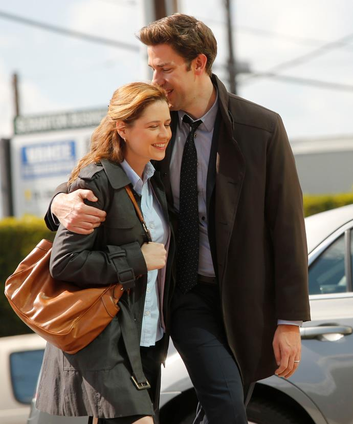 **Jim and Pam Halpert -** ***The Office***  <br><br> Jim (John Krasinski) and Pam's (Jenna Fischer) banter in the first season gave us a glimpse that they'd turn out to be more than friends. We went through will-they or –won't-they phases for five-plus seasons but the loveable pair finally got hitched with an impromptu dance party down the aisle.