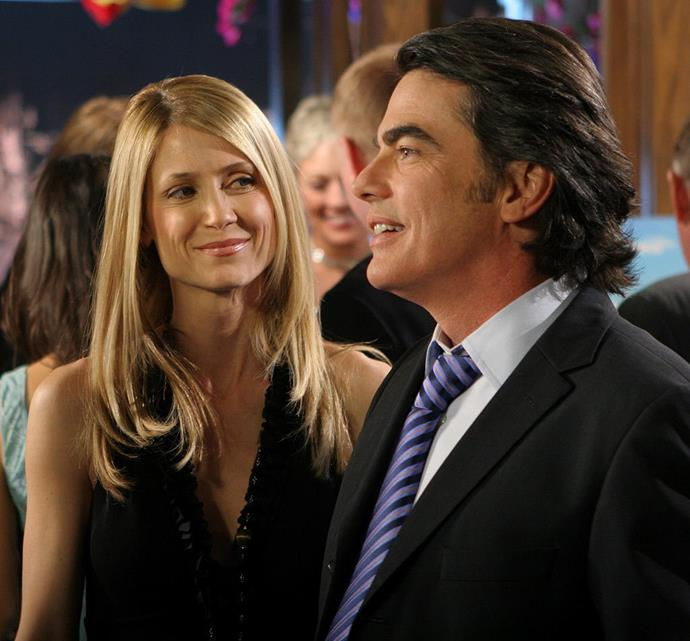 **Sandy and Kirsten Cohen -** ***The O.C***  Sure, we could have said Seth and Summer, but the relationship between Sandy (Peter Gallagher) and Kirsten (Kelly Rowan) made us *believe* in marriage. Although the couple went through some troubles (Kirsten's alcoholism and depression after losing her dad, and Sandy's work life), they stuck by each other's side through it all.