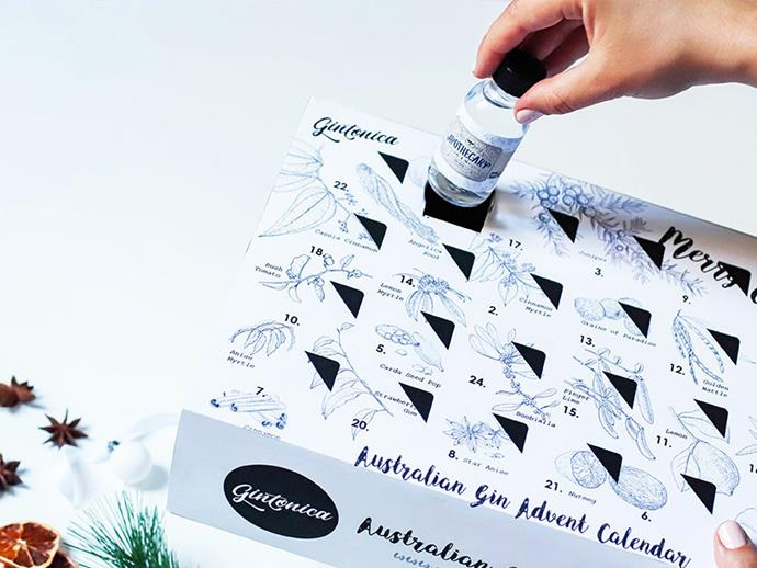 """**Gin Advent Calendar Australia** <br><br> Not a whiskey fan? That's fine! This Australian gin Advent Calendar may be a better choice for you. The pack includes personal tasting notes from the distillers and a little Christmas surprise. It's going to set you back [$295.00 per pack from Dan Murphy's.](https://www.danmurphys.com.au/product/DM_ER_1000003293_RWGAC17/gintonica-australian-craft-gin-advent-calendar target=""""_blank"""" rel=""""nofollow"""")"""