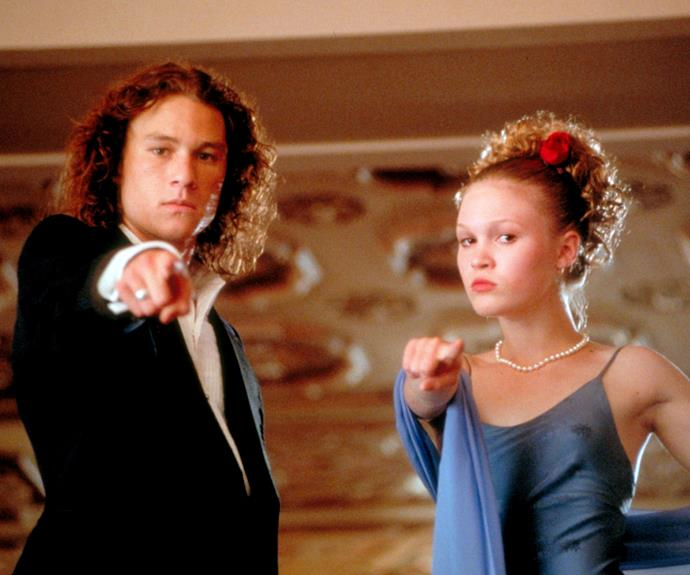 Julia with the late Heath Ledger in *10 Things I Hate About You*