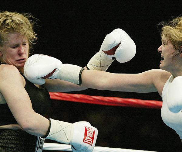 Tonya during her boxing years.