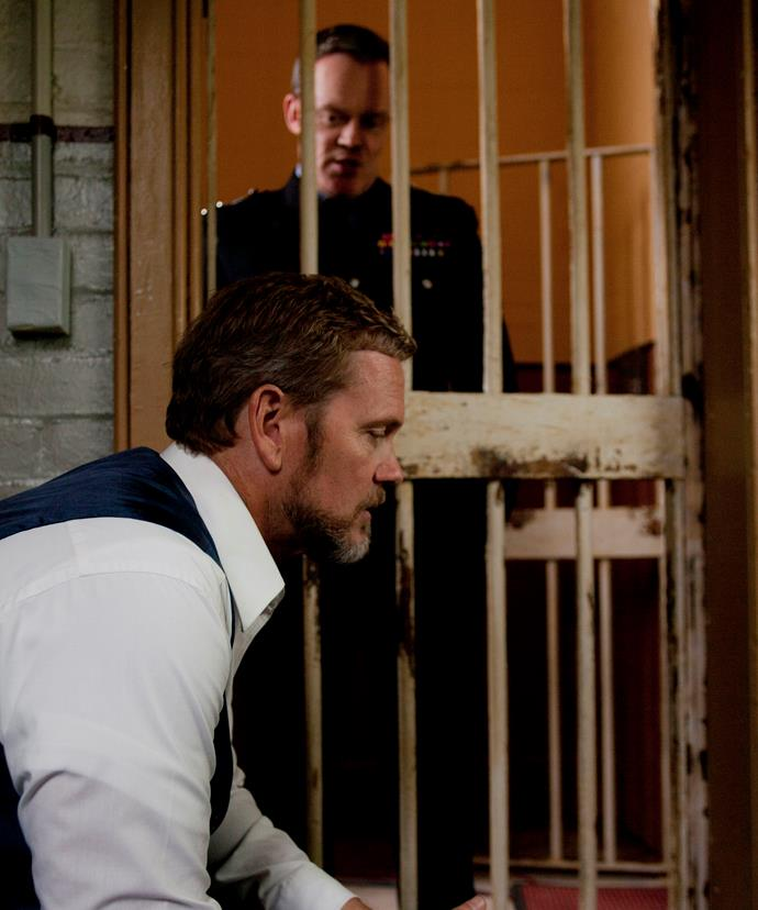 **Behind bars:** When the British consul comes to Ballarat in season one, a drunk Dr Blake gatecrashes the reception. The doc attacks the visitor (John Higginson) over the British abandoning Australians to die in Singapore. He says their actions cost him his wife and daughter. Following a clash, Dr Blake punches chief superintendent Lawson (Joel Tobeck) and is locked up overnight. It's a reminder of just how much the doctor suffered during the war, and how deeply scarred he was.