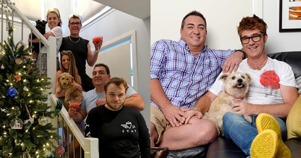 Gogglebox Australia's Wayne and Tom on their three kids | TV