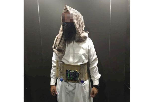 A man was arrested in Malaysia after dressing as a  a suicide bomber or Halloween.