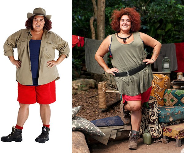 After entering the jungle Casey lost 17kgs.