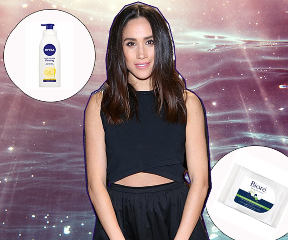 "Speaking with *Beauty Banter* recently, Meghan Markle spilled on the beauty products she uses to achieve that infamous 'Markle sparkle', and lucky for us, they're budget buys you can find at the chemist.   When it comes to keeping her skin hydrated, the *Suits* actress revealed she uses Nivea's $11/400ml, [Firming Body Lotion Q10 Plus](http://www.kmart.co.nz/product/nivea-q10-plus-body-firming-lotion-400ml----------------------------------------------------------------------------------------/1694315|target=""_blank""