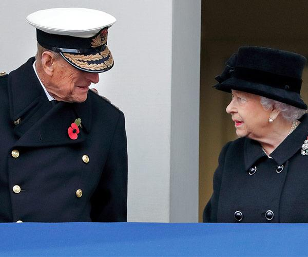 Prince Philip and The Queen watched on from a nearby balcony.