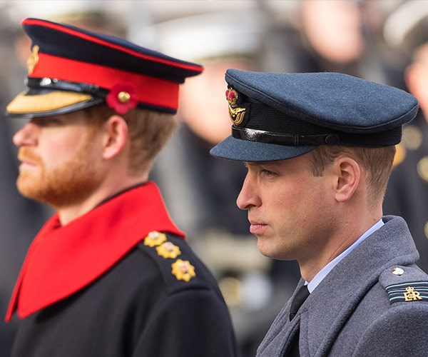 Prince Harry and Prince William were there to support their father.
