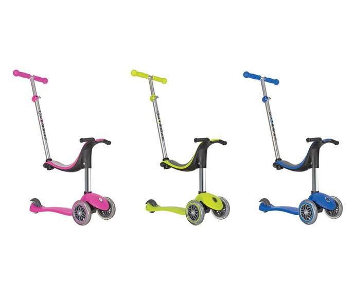 "Winner of Mother & Baby's Most Popular Developmental Toy (12 Months+) this year, the Globber Evo 4 in 1 is a scooter that grows with bub, from ride on mode to full scooter. [$160, Globber.](https://www.globber.com.au/product/globber-myfree-4-in-1/|target=""_blank""
