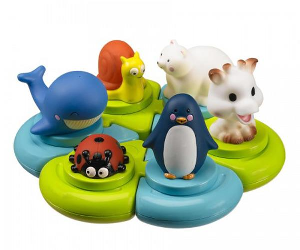 "This one is for baby's first Christmas. Shapes fit together to become a toy set, encouraging baby's motor skills, concentration and logic. [The Les Folies Bath Puzzle, $41.90.](http://www.lesfolies.com.au/product/sophie-the-giraffe/bath-puzzle|target=""_blank""