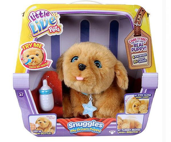 """This year's cutest, cuddly toy comes in the form of a little pooch called Snuggles. This interactive toy pup is a great gift for the child who desperately wants a puppy. [$59, Target](https://www.target.com.au/p/little-live-pets-trade-snuggles-my-dream-puppy/59636229 target=""""_blank"""" rel=""""nofollow"""")."""