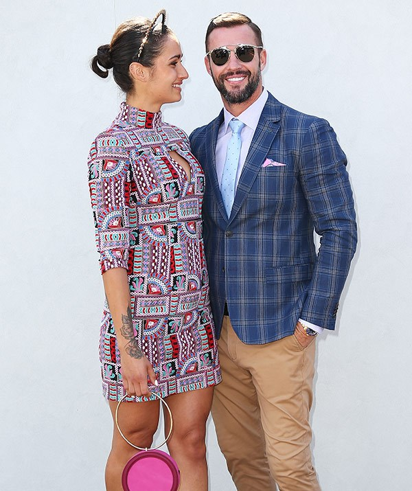 Sarah and Kris went public with their romance at Stakes Day at Flemington Racecourse on November 11.
