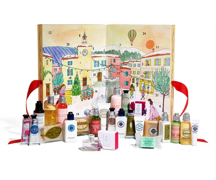 """**L'OCCITANE Advent Calendar** <br><br> Feel like treating yourself to a trip to France but can't afford it (who *can* come Christmas time?!)? Be transported to lavender-scented Provence with [L'OCCITANE's luxurious, product-packed advent calendar](https://au.loccitane.com/advent-calendar,23,1,11186,1151133.htm target=""""_blank"""" rel=""""nofollow""""). Featuring some of their signature dream creams, as well as new bound-to-be beauty favourites, coming in at $89, this will be your cheapest vacation to date."""