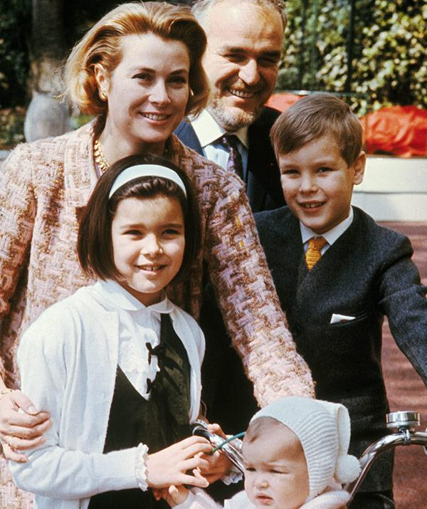 Prince Albert with his sisters, mother and father in 1966.