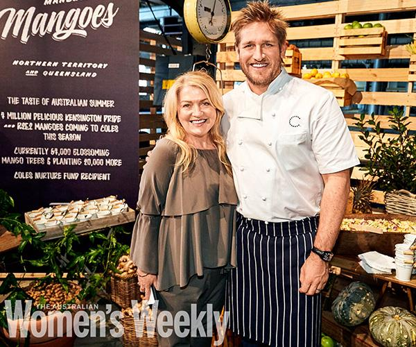 Celebrity chef Curtis Stone with *The Australian Women's Weekly* food director, Fran Abdallaoui.