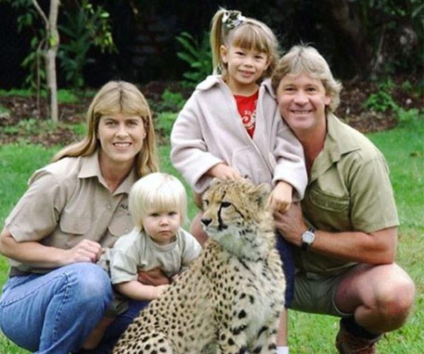 "Younger brother Bob posted this family photo. ""Happy #SteveIrwinDay So excited to be remembering dad's legacy with a celebration @australiazoo! He was the greatest Wildlife Warrior, conservationist and dad on the planet."""