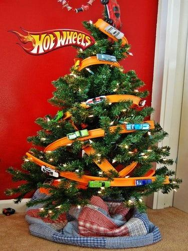 This Hot Wheels Christmas tree is creativity squared!