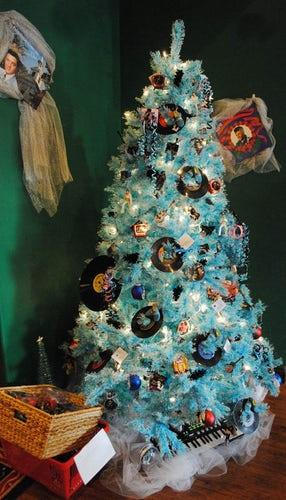 For the record, this disc-loaded Christmas Tree is as brilliant as it is blue.