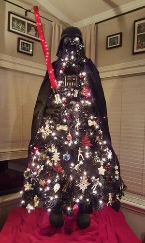 May the force be with anyone who opts for a Darth Vadar-inspired Christmas tree.