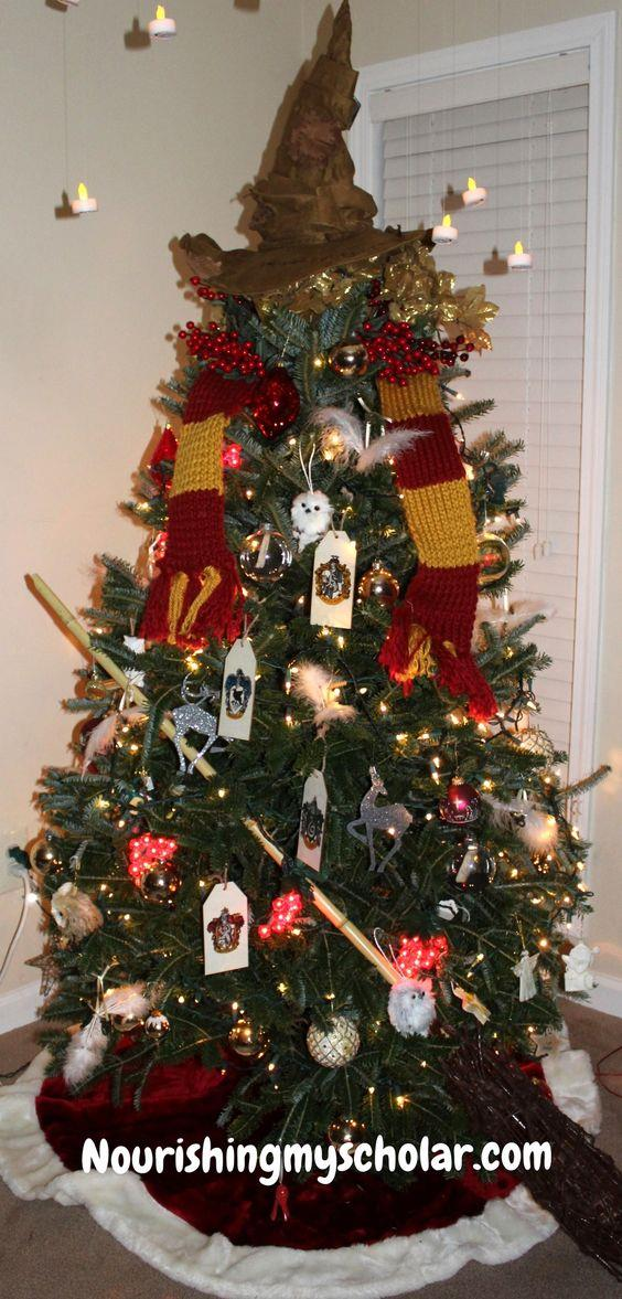 Wingardium Leviosa, candles! This Harry Potter Christmas tree is beyond magical.