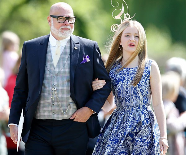 Gary and his daughter Tallulah at Pippa Middleton's wedding in May.