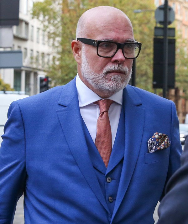 A sombre-looking Gary arrives at Westminster Magistrates' Court on 14 November 2017.