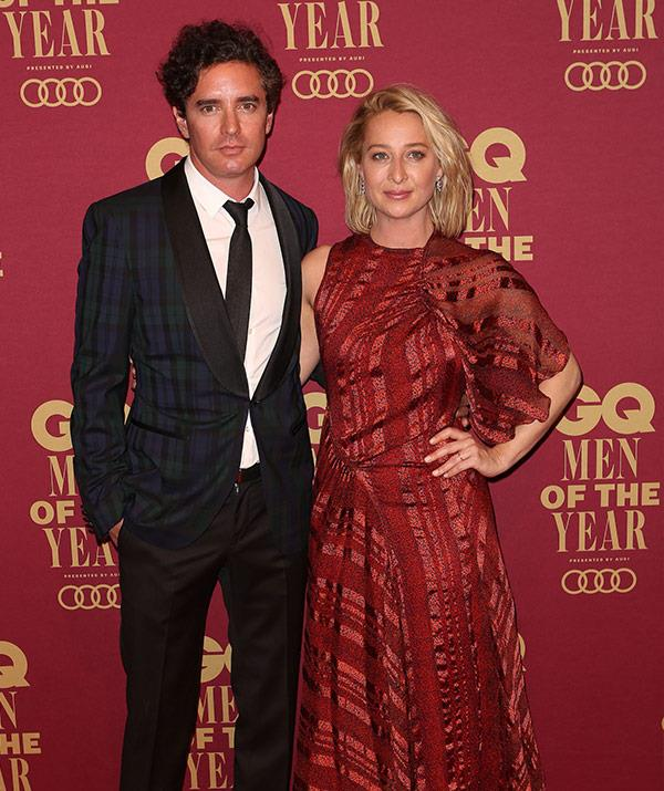 Leaving their offspring at home: Asher Keddie and Vincent Fantauzzo have a blast.