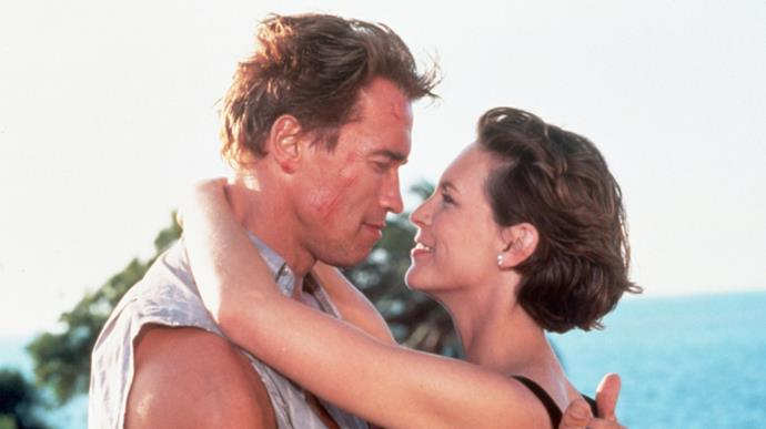 ***True Lies:*** Fox has a TV version of the 1994 film *True Lies* in the works. The original flick followed a superspy (Arnold Schwarzenegger) who had to keep his occupation hidden from his wife (Jamie Lee Curtis) and daughter. A pilot will go ahead, and based on how well it does, it could be picked up for a full season.
