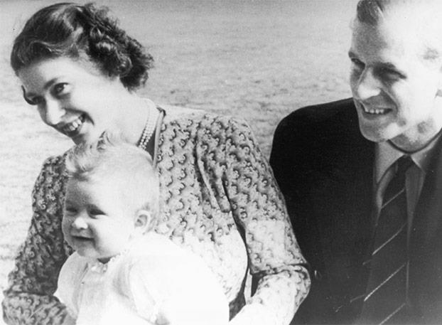 Prince Philip, pictured with The Queen and Prince Charles in 1949, cooked for the whole family.