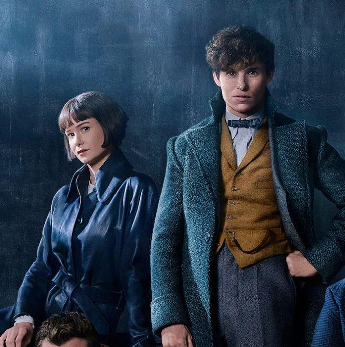 Newt Scamander (Redmayne) and Tina Goldstein (Katherine Waterston)