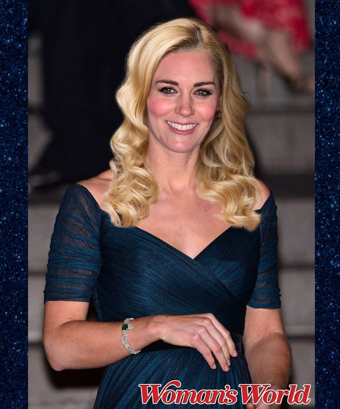 If the Duchess dyed her hair blonde, no one would recognise her. Is that Kate Winslet?