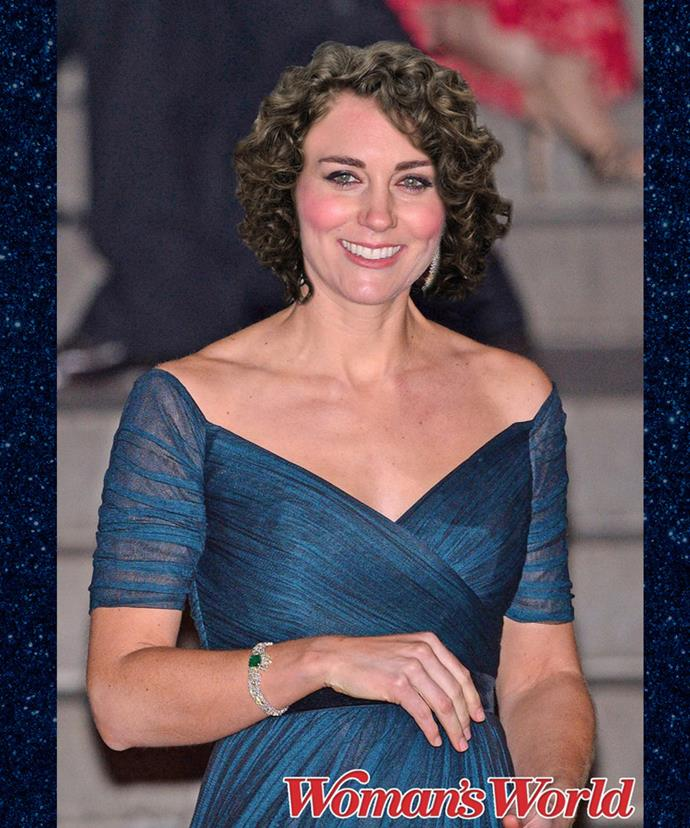 If the Duchess had really curly hair, she'd probably wear it like this.