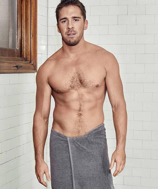 The 32-year-old says he only found out he'd be posing in a towel for the shoot a mere day before.