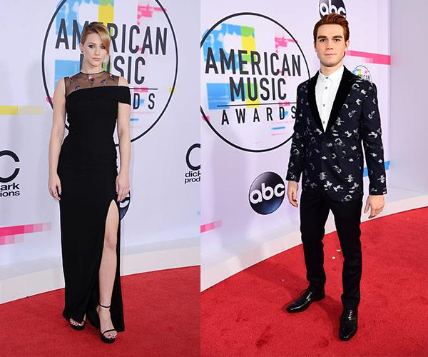 It's Betty and Archie from *Riverdale*... Aka Lili Reinhart and KJ Apa.
