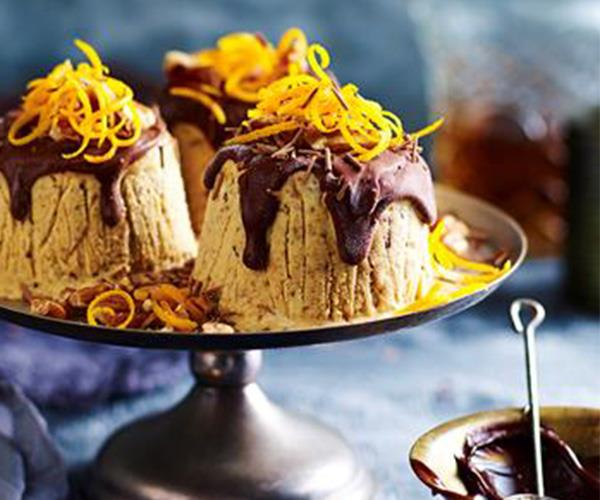"**Cheat's frozen Christmas puddings** <br><br> These deliciously sweet frozen puddings are perfect for a hot Australian Christmas celebration and only take 30 minutes to make. <br><br> [Find the recipe here](http://www.foodtolove.com.au/recipes/cheats-frozen-christmas-puddings-31019|target=""_blank"")."