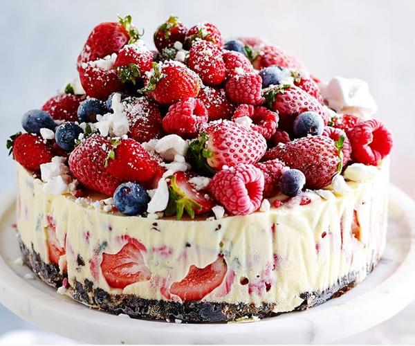 "**The-night-before frozen Christmas ice cream cake** <br><br> This cake is quick and delicious and will have your guests coming back for more. The best part? You can make it the night before, to save yourself time on the day of your Christmas event.  <br><br> [Find the recipe here](http://www.foodtolove.com.au/recipes/the-night-before-frozen-christmas-ice-cream-cake-31196|target=""_blank"")."