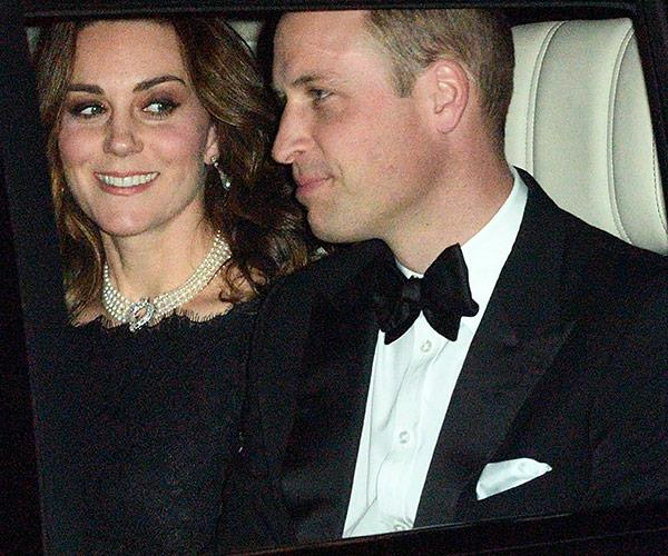 Duchess Catherine and Prince William led the guest list and were pictured driving into Windsor Castle on Monday evening.