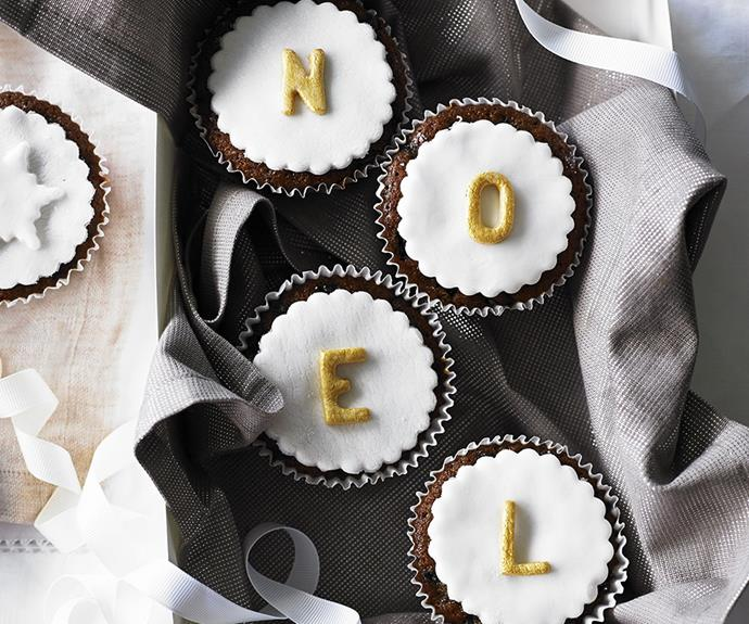 "**Iced Christmas cupcakes:** Get creative and decorate your desserts table with some edible Christmas messaging. With mixed fruit and a dash of brandy, these cupcakes are festive and fun. Click [here](http://www.foodtolove.com.au/recipes/iced-christmas-cupcakes-19287|target=""_blank"") for the full recipe."