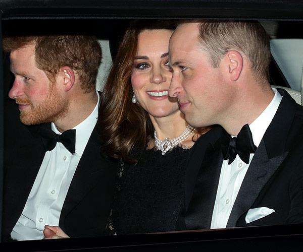Prince Harry also joined them.