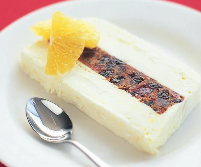 "**Christmas cake ice-cream terrine:** Oranges, orange liqueur and Christmas cake form the basis of this incredibly quick and simple ice-cream terrine. Click [here](http://www.foodtolove.com.au/recipes/christmas-cake-ice-cream-terrine-21973|target=""_blank"") for the full recipe."