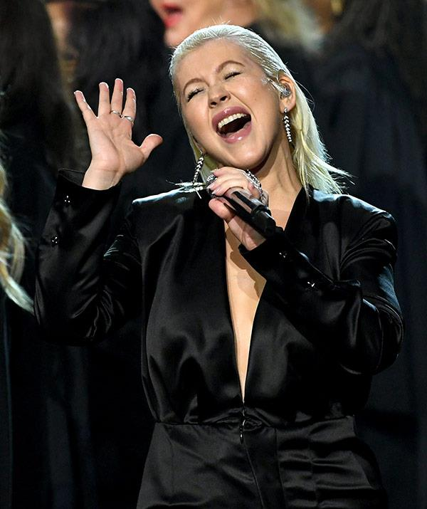 There were real emotions during Xtina's tribute.