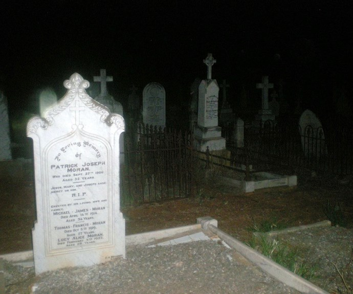 This was the only headstone that was out of focus. Could it be paranormal activity?