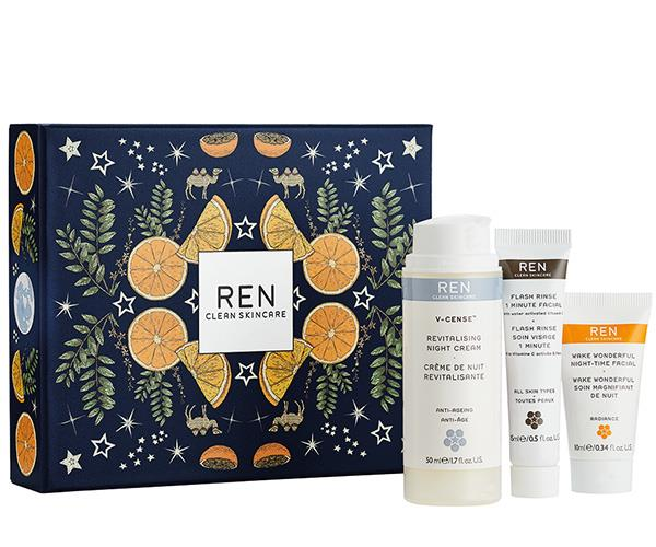 """What every new mum needs but rarely ever gets: a silent night. Ren's Silent Night, Wake Wonderful set includes an overnight facial treatment, a night cream and a flash rise 1 minute facial. [$63, Mecca.](https://www.mecca.com.au/ren/silent-night-wake-wonderful-set/I-029247.html?cgpath=gifts-giftsbypersonality-giftsformum target=""""_blank"""" rel=""""nofollow"""")"""